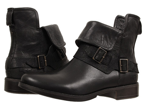 UGG - Cybele (Black Leather) Women's Boots
