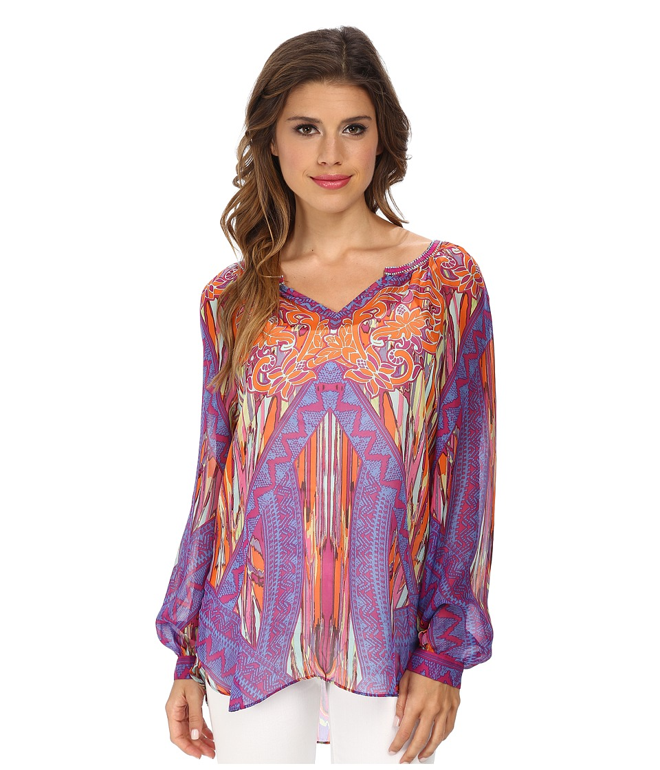 Hale Bob - Sandstorm Sophisticate Washed Silk Blouse (Purple) Women's Blouse