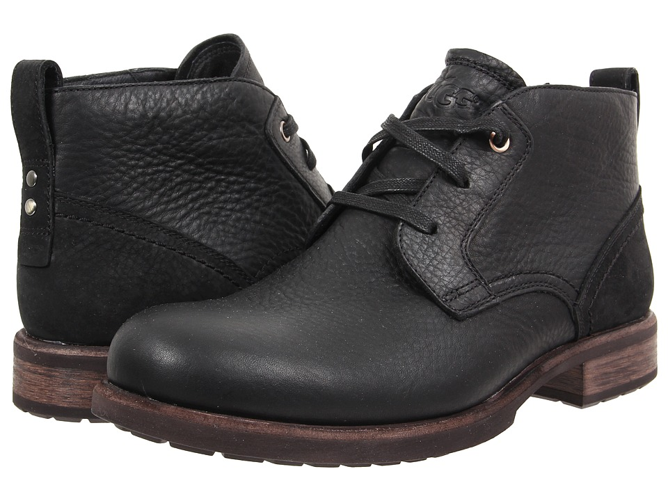 UGG - Brompton (Black Leather) Men's Shoes
