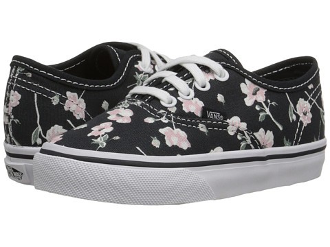 Vans Kids - Authentic (Toddler) ((Vintage Floral) Blue Graphite) Girls Shoes