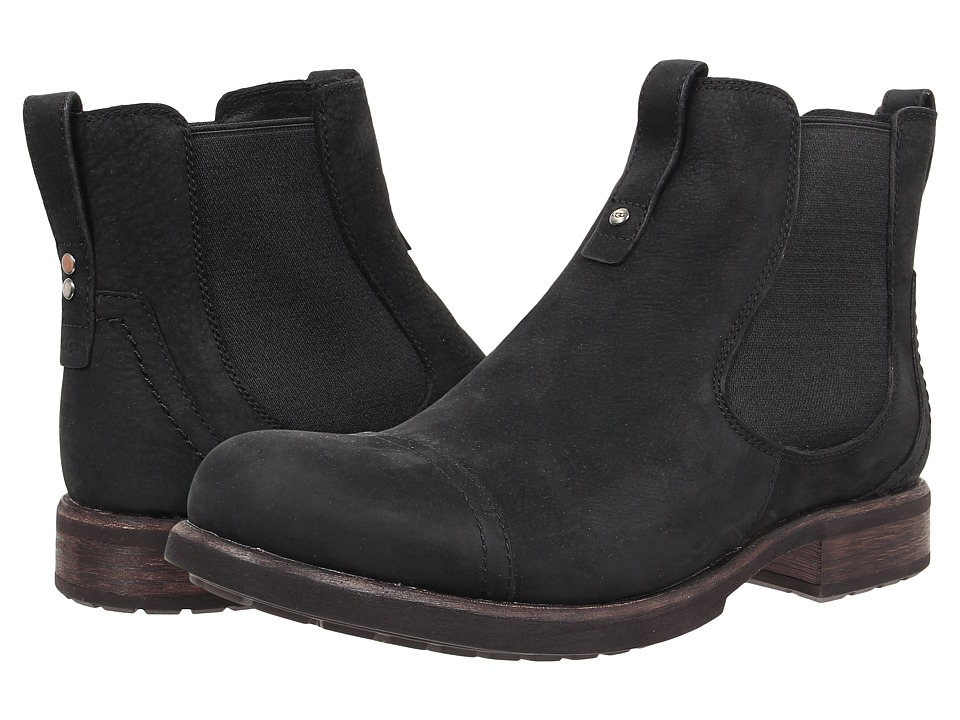 UGG - Gallion (Black Leather) Men