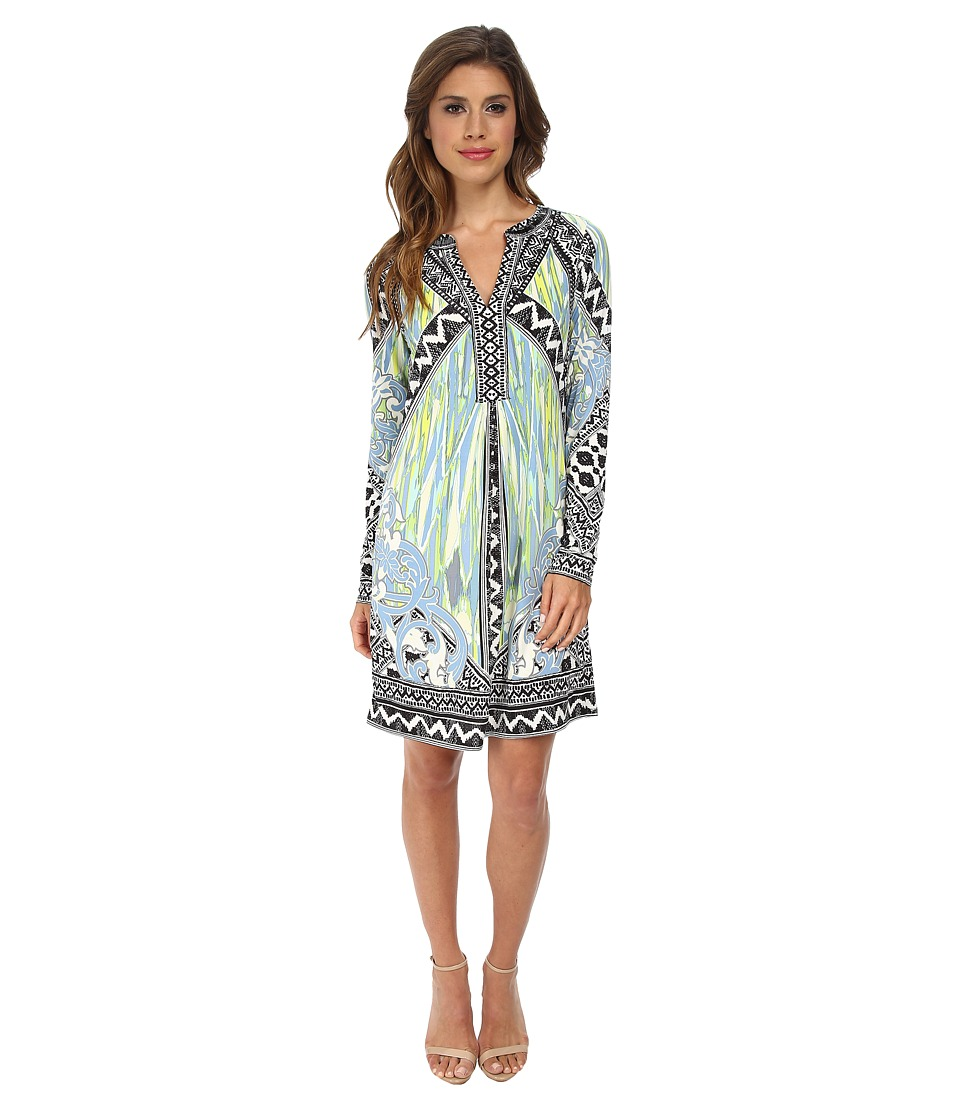 Hale Bob - Sandstorm Sophisticate Long Sleeve Signature Dress (Blue) Women's Dress