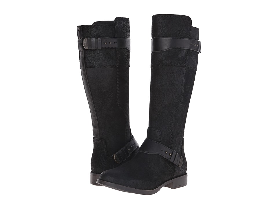 UGG - Dayle (Black Leather) Women's Pull-on Boots