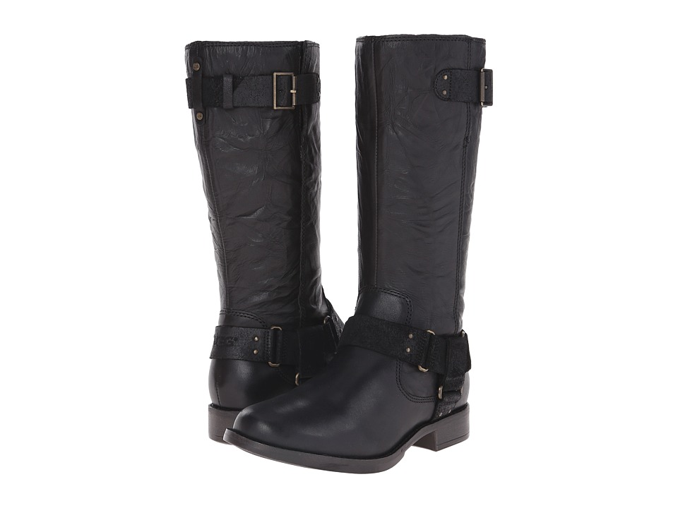 UGG - Damien (Black Leather) Women's Pull-on Boots