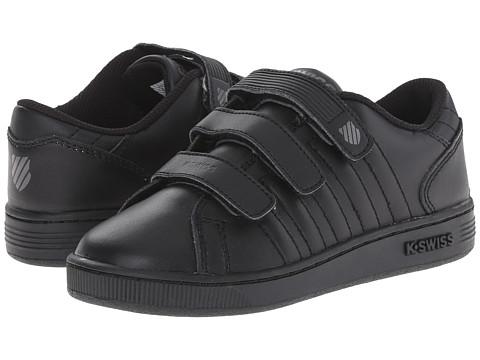 K-Swiss Kids - Lozan 3-Strap (Little Kid) (Black/Black/Gunmetal) Kids Shoes