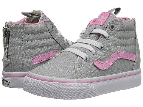 Vans Kids - Sk8-Hi Zip (Toddler) ((Pop) High-Rise/Prism Pink) Girls Shoes
