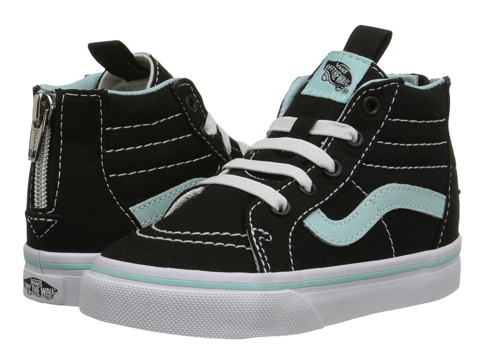 Vans Kids - Sk8-Hi Zip (Toddler) ((Pop) Black/Blue Tint) Girls Shoes