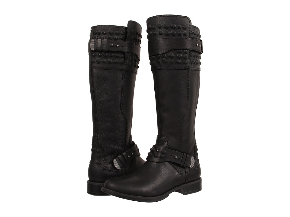 UGG - Dayle Stud (Black Leather) Women's Boots