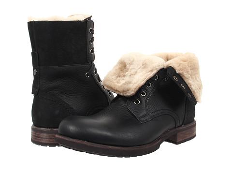 ... Size UPC 888855216940 product image for UGG - Larus (Black Leather 1) Men's  Shoes ...