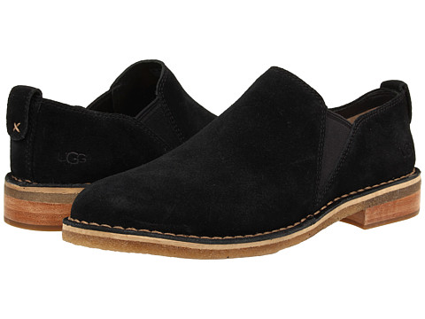 UGG - Camellia (Black Suede) Women's Slip on Shoes