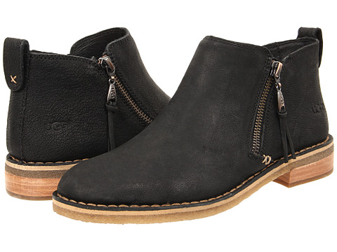 UGG - Clementine (Black Leather) Women's Slip on Shoes
