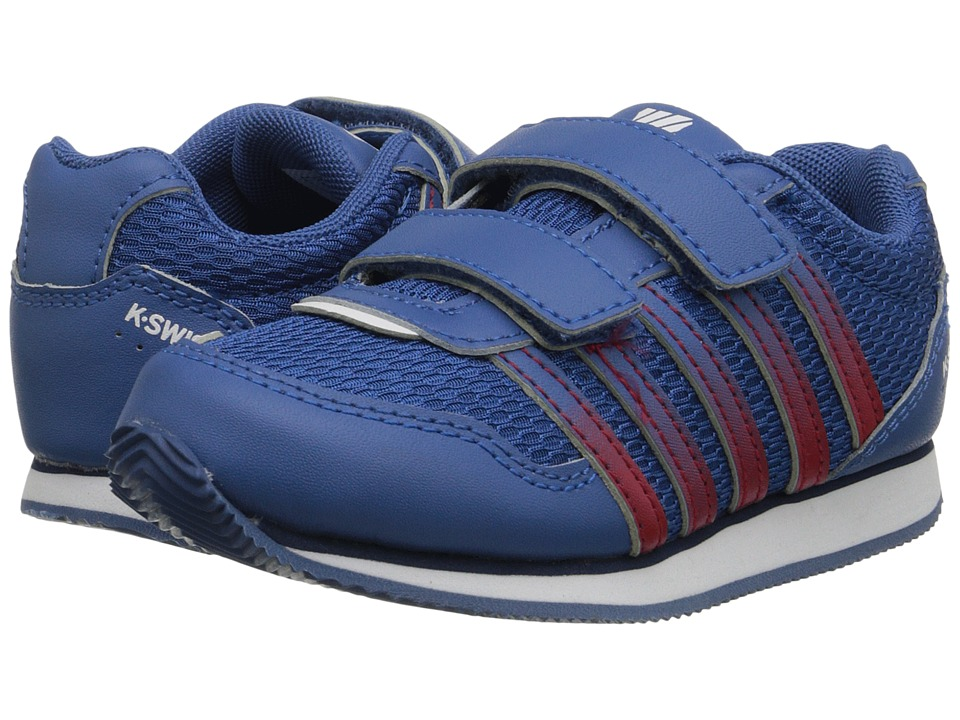 K-Swiss Kids - New Haven Strap (Infant/Toddler) (Brunner Blue/Red/White) Boys Shoes