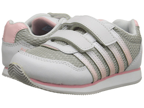 K-Swiss Kids - New Haven Strap (Infant/Toddler) (White/Crystal Rose/Grey) Girls Shoes