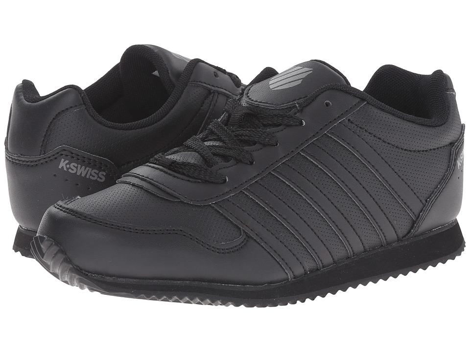 K-Swiss Kids - New Haven S (Big Kid) (Black/Smoked Pearl) Kids Shoes