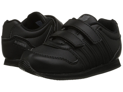 K-Swiss Kids - New Haven S Strap (Infant/Toddler) (Black/Smoked Pearl) Kids Shoes