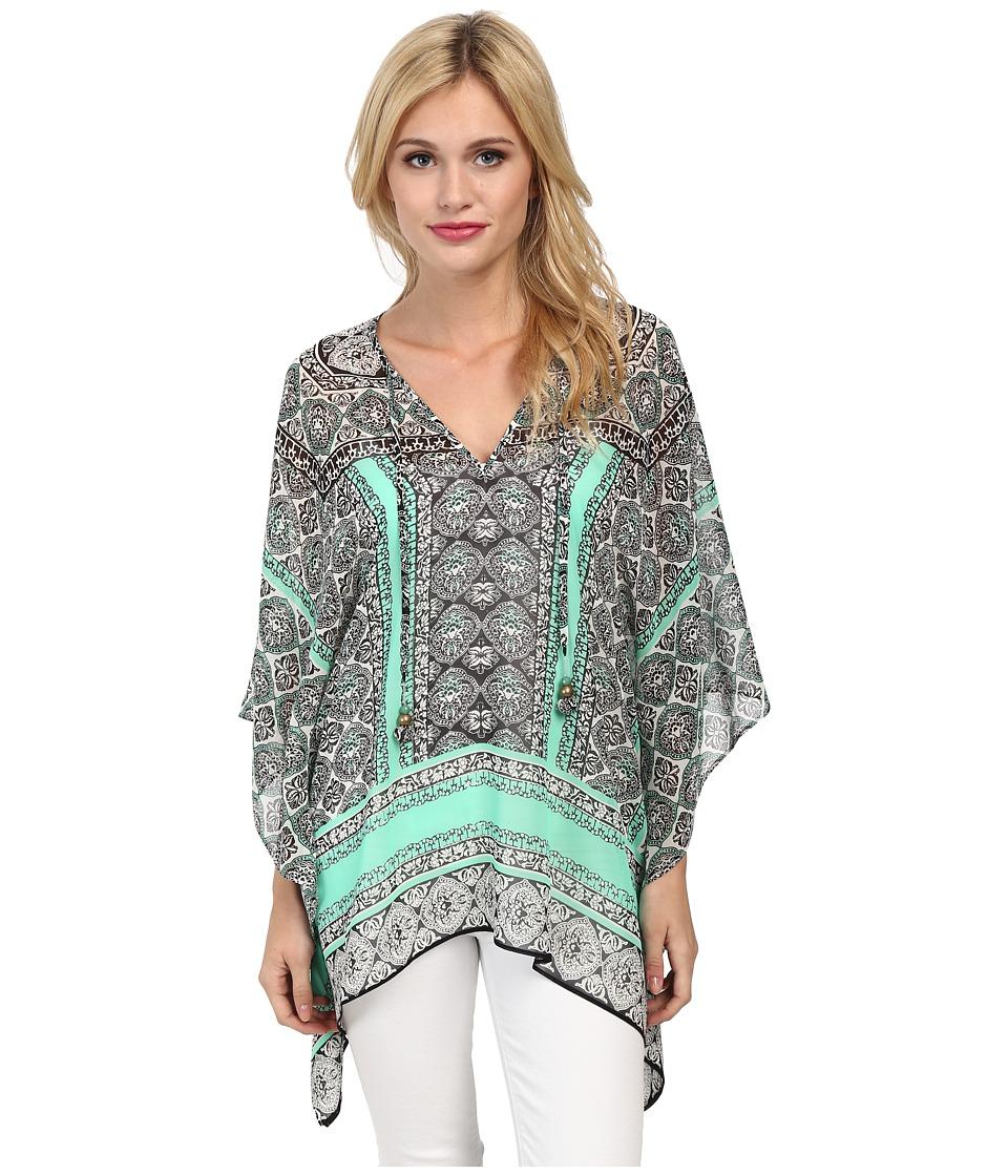 Hale Bob - Saharan Mosaic Tunic (Teal) Women's Blouse