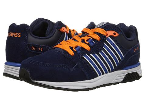K-Swiss Kids - SI-18 Trainer 2 SDE (Big Kid) (Navy/Classic Blue/Orange Popsicle) Boys Shoes
