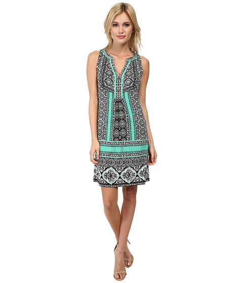 Hale Bob - Saharan Mosaic Signature Dress (Teal) Women's Dress