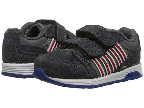K-Swiss Kids - SI-18 Trainer 2 SDE Strap (Infant/Toddler) (Charcoal/Red/Classic Blue) Boys Shoes