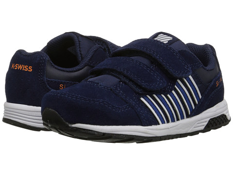 K-Swiss Kids - SI-18 Trainer 2 SDE Strap (Infant/Toddler) (Navy/Classic Blue/Orange Popsicle) Boys Shoes