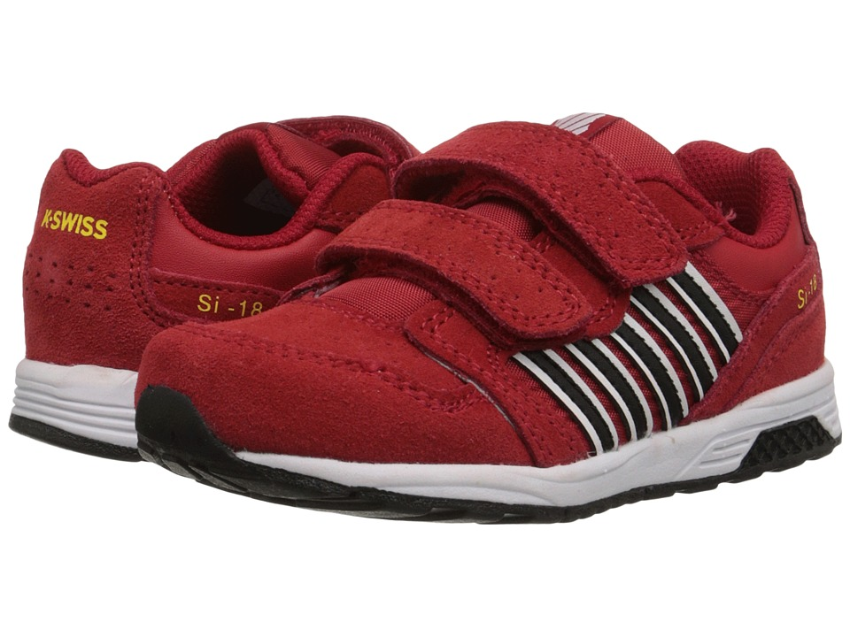 K-Swiss Kids SI-18 Trainer 2 SDE Straptm (Infant/Toddler) (Red/Black/Cyber Yellow) Boys Shoes