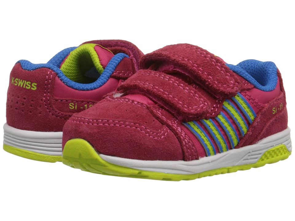 K-Swiss Kids - SI-18 Trainer 2 SDE Strap (Infant/Toddler) (Raspberry/Lime Punch/Brilliant Blue) Girls Shoes