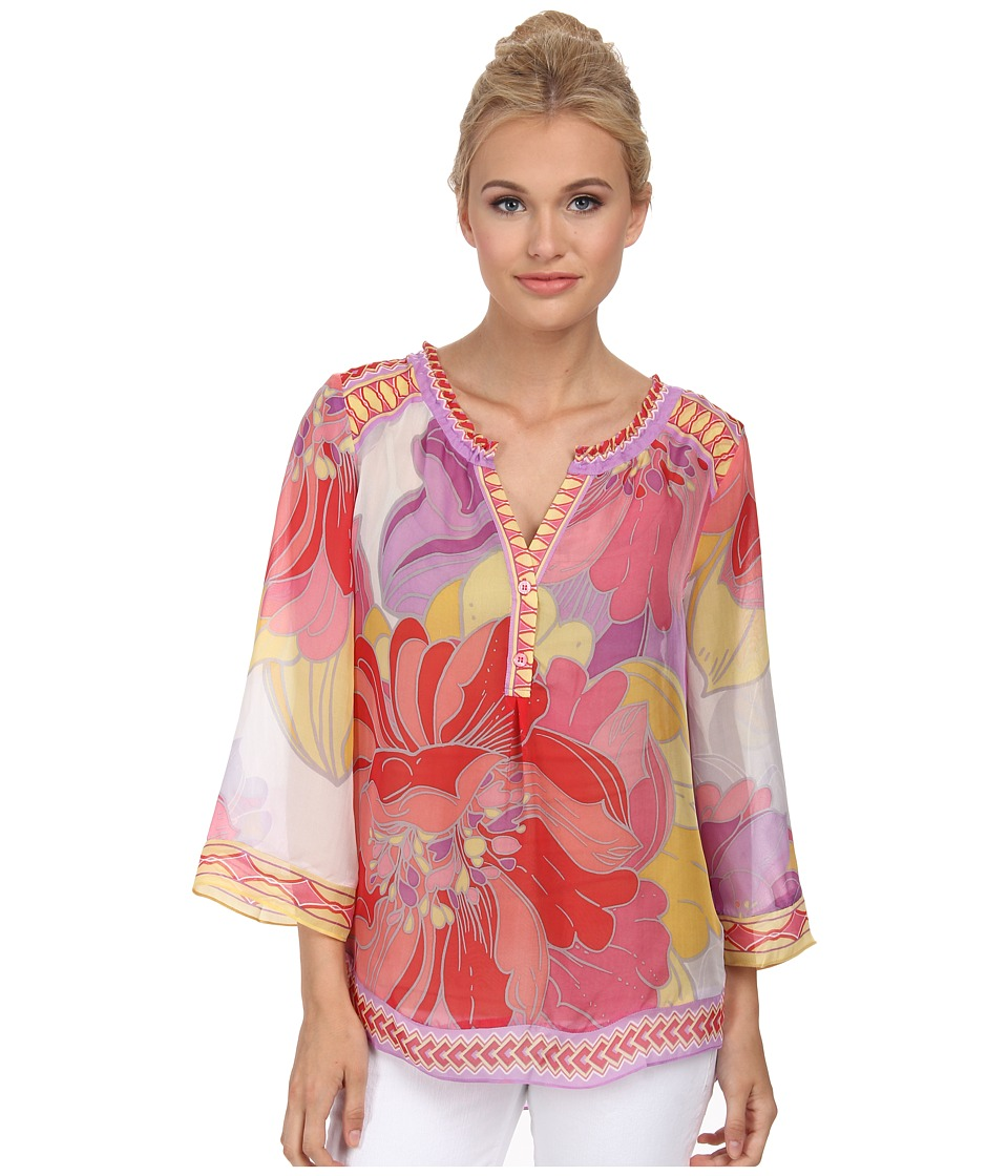 Hale Bob - Flower Fantasy Blouse (Pink) Women's Blouse