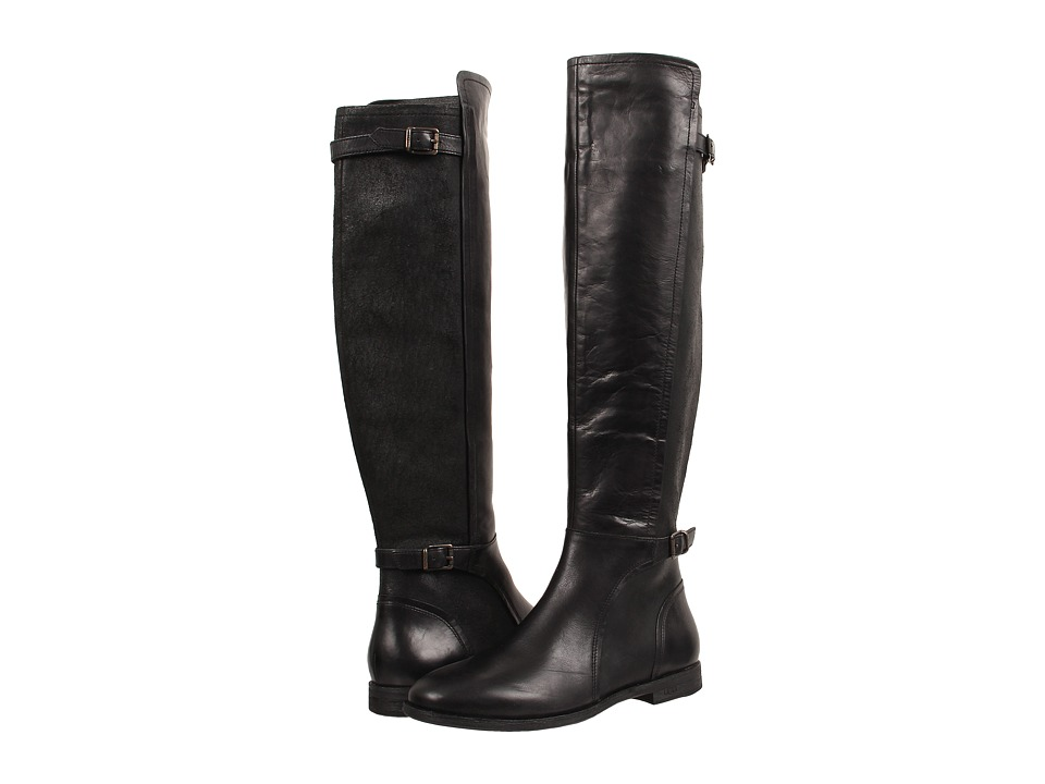 UGG - Danae (Black Leather) Women's Zip Boots