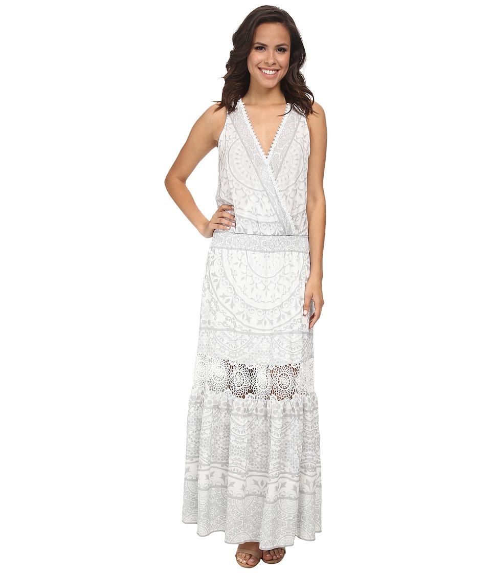 Hale Bob Femme Fatale Maxi Dress (Gray) Women