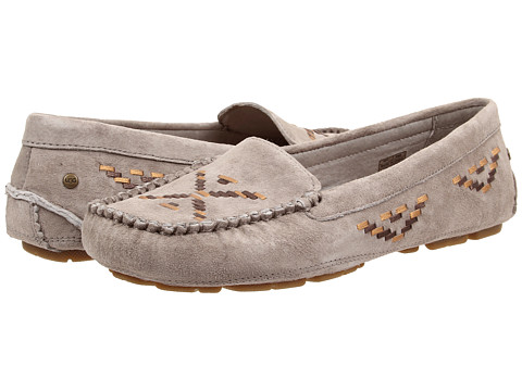 UGG - Calze Rustic Weave (Ash Suede) Women's Slip on Shoes
