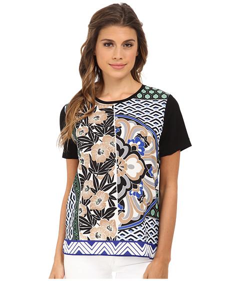 Hale Bob - Floral Fusion Tee (Blue) Women's T Shirt
