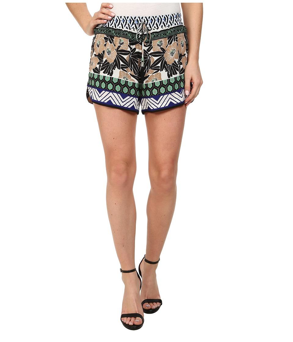 Hale Bob - Floral Fusion Shorts (Blue) Women