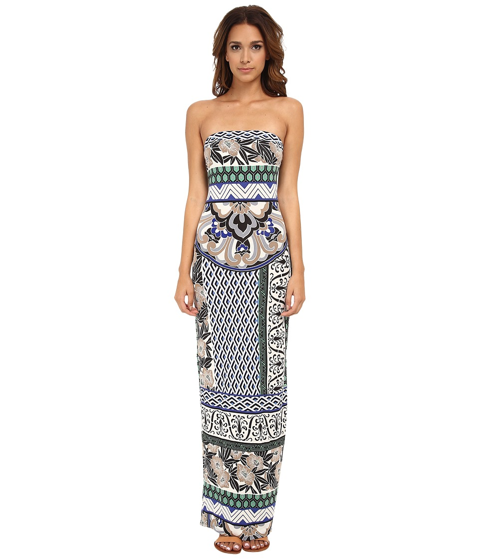 Hale Bob - Floral Fusion Tube Maxi Dress (Blue) Women's Dress