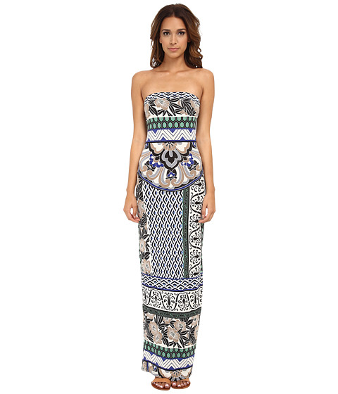 Hale Bob - Floral Fusion Tube Maxi Dress (Blue) Women