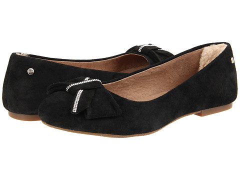 UGG - Jacqueline (Black Suede) Women's Flat Shoes