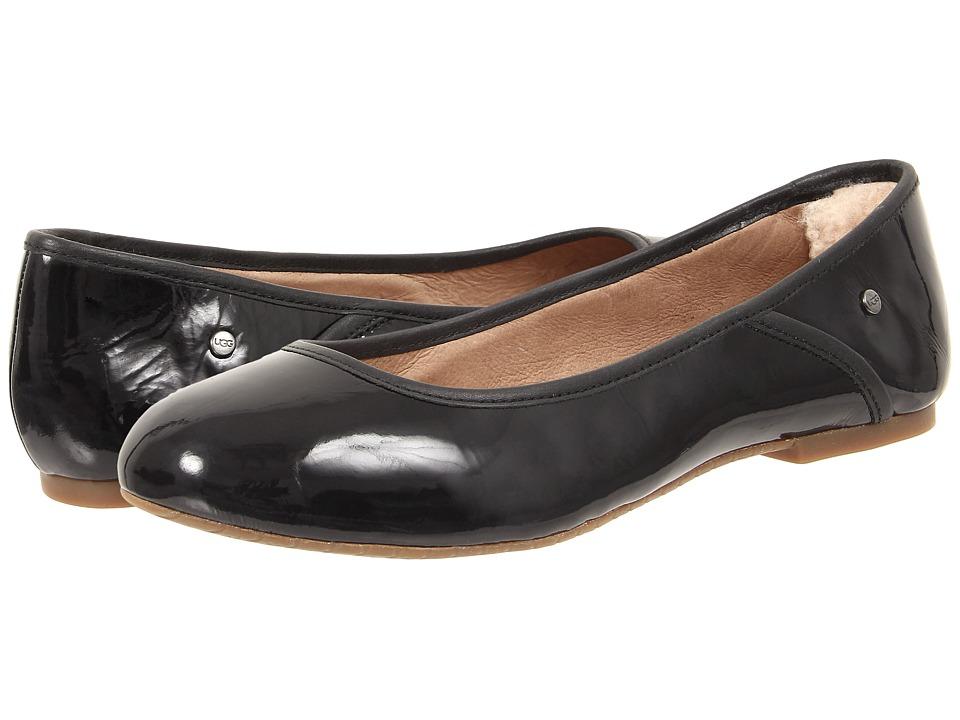 UGG - Antora (Black Patent) Women's Flat Shoes