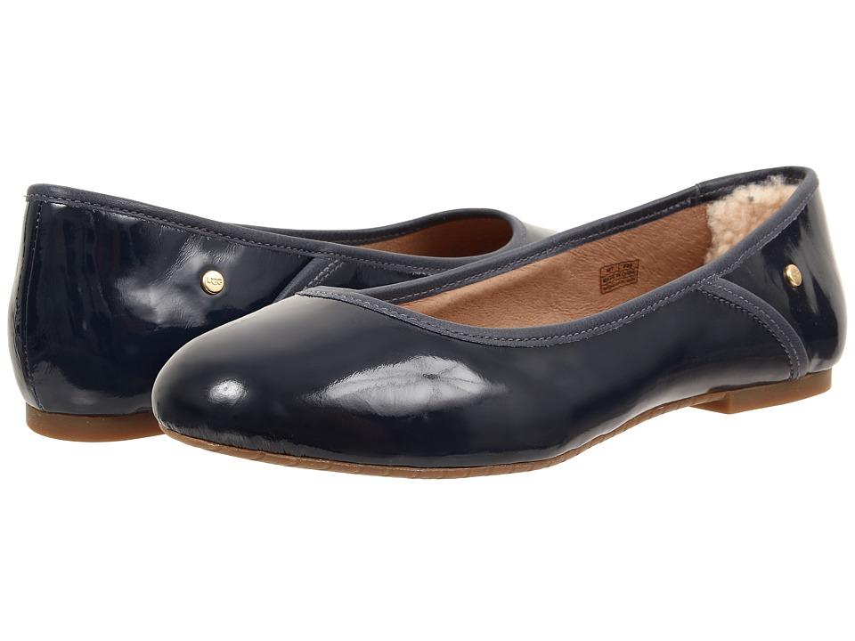 UGG - Antora (Navy Patent) Women's Flat Shoes