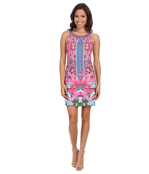 Hale Bob - South Beach Blooms Sleeveless Dress (Coral) Women