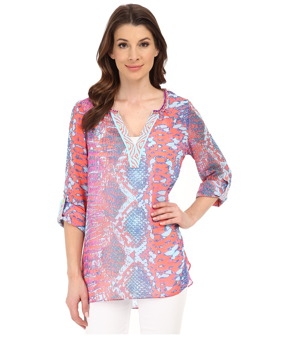 Hale Bob - Old Havana Heat Blouse (Fuchsia) Women's Blouse