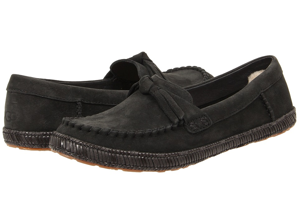 UGG - Amila (Black) Women's Moccasin Shoes