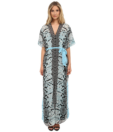 Hale Bob - Old Havana Heat Maxi Dress (Blue) Women