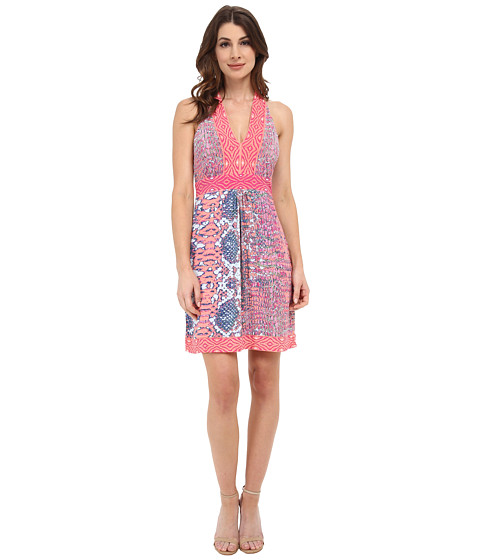 Hale Bob - Old Havana Heat Halter Dress (Fuchsia) Women's Dress