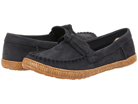 UGG - Amila (Navy Leather) Women's Moccasin Shoes