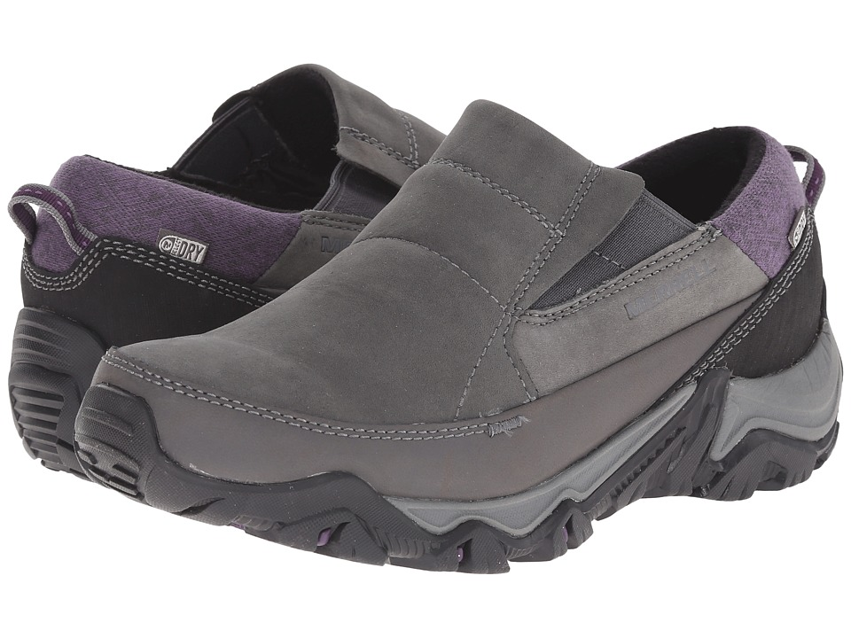 Merrell - Polarand Rove Moc Waterproof (Granite) Women's Slip on Shoes