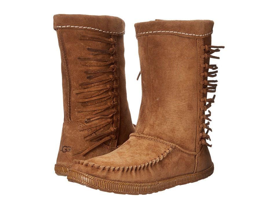 UGG - Hyland (Chestnut Suede) Women's Pull-on Boots