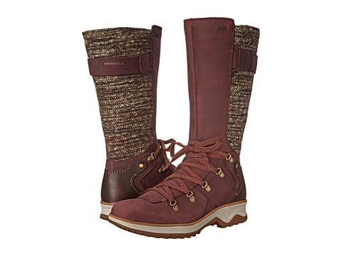 Merrell - Eventyr Peak Waterproof (Wine) Women's Lace-up Boots