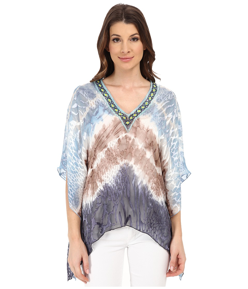 Hale Bob - Life On Star Island V-Neck Burnout (Taupe) Women's Blouse