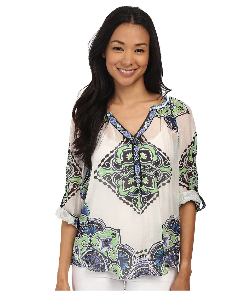 Hale Bob - Palm Beach Daze Blouse (Lime) Women's Blouse