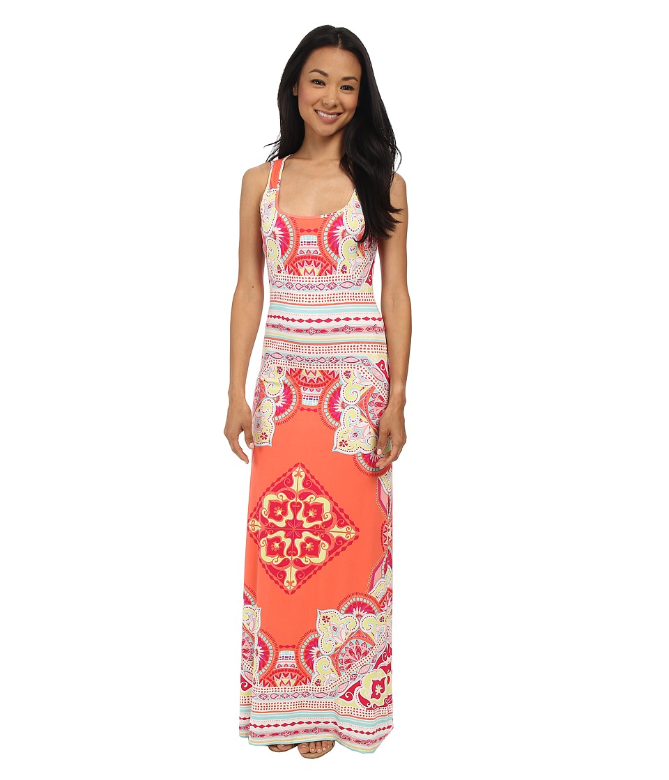 Hale Bob - Palm Beach Daze Maxi Dress (Coral) Women