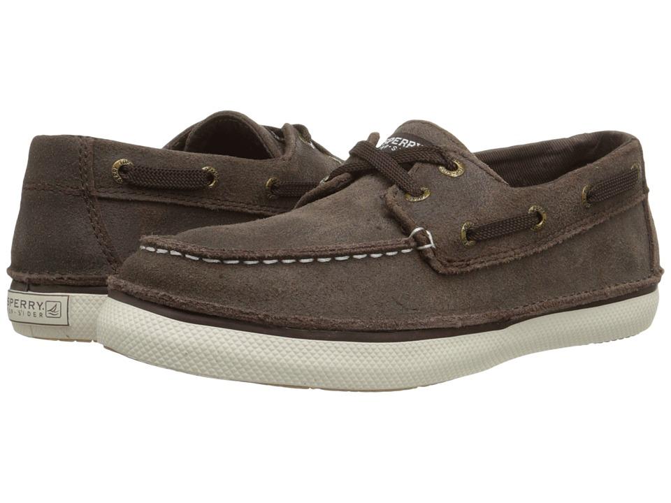 Sperry Kids - Cruz (Little Kid/Big Kid) (Brown Leather) Boys Shoes